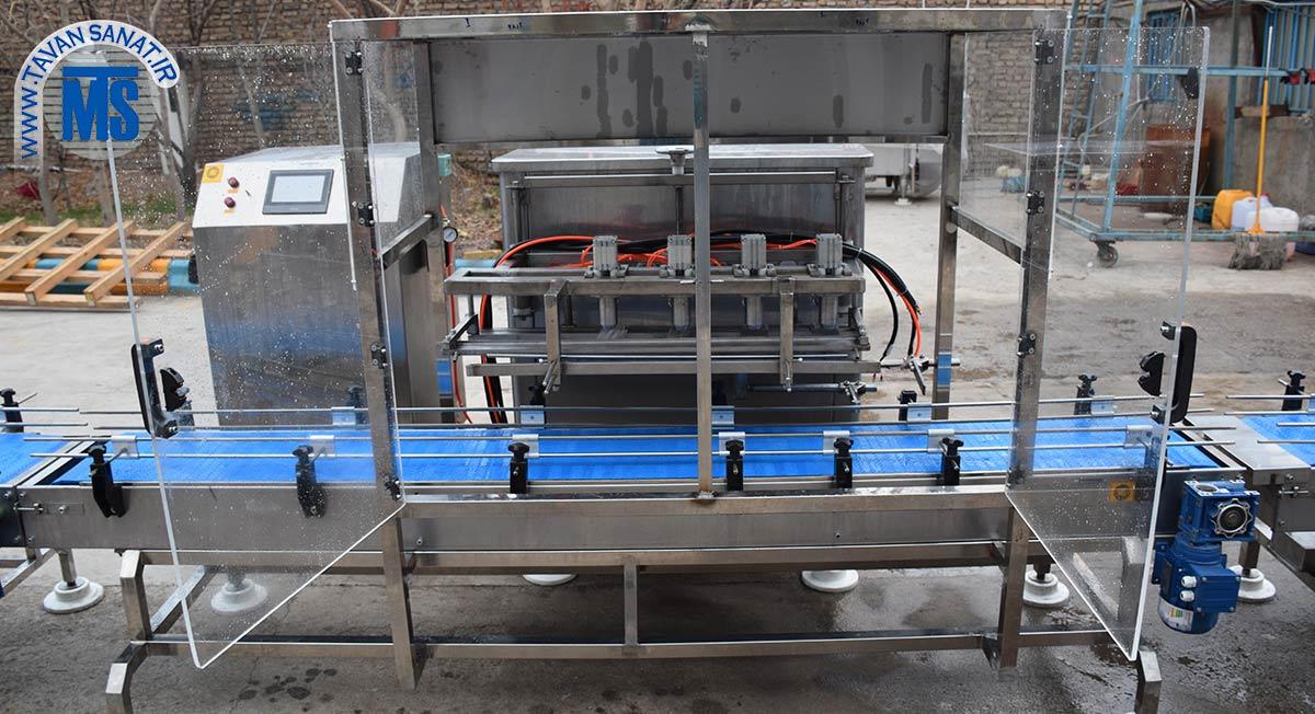 دستگاه فیلر مایعات خطی مخصوص گالن روغن