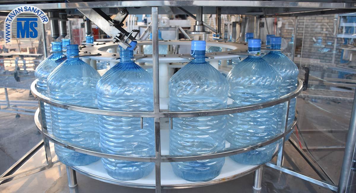 دستگاه فیلر مایعات روتاری مخصوص گالن آب آشامیدنی